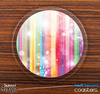 The Unfocused Color Striped Skinned Foam-Backed Coaster Set