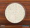 The Vintage Tan Dotted Skinned Foam-Backed Coaster Set