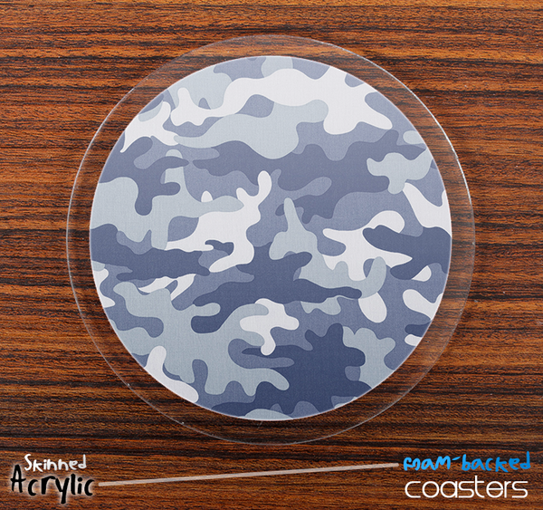 The Winter Traditional Camouflage Skinned Foam-Backed Coaster Set