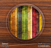 The Grunge Vintage Striped Skinned Foam-Backed Coaster Set
