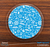 The Blue Nautical Collage Skinned Foam-Backed Coaster Set