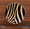 The Real Zebra Animal Skinned Foam-Backed Coaster Set