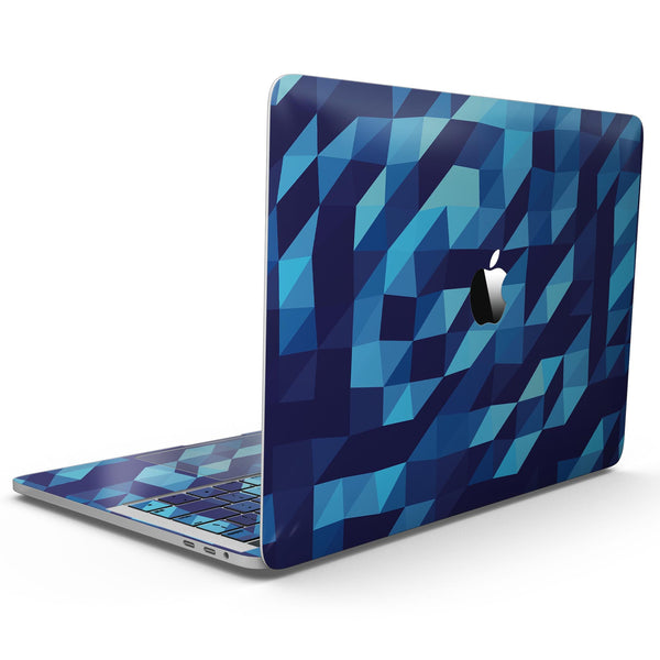 50 Shades of Blue Geometric Triangles - MacBook Pro with Touch Bar