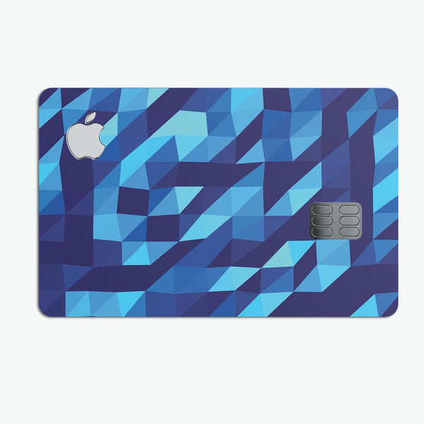 50 Shades of Blue Geometric Triangles - Premium Protective Decal Skin-Kit for the Apple Credit Card