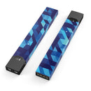 50 Shades of Blue Geometric Triangles - Premium Decal Protective Skin-Wrap Sticker compatible with the Juul Labs vaping device