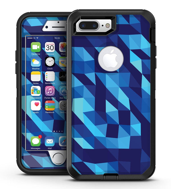 50 Shades of Blue Geometric Triangles - iPhone 7 Plus/8 Plus OtterBox Case & Skin Kits