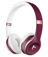 50 Shades of Burgandy Micro Hearts 2 Full-Body Skin Kit for the Beats by Dre Solo 3 Wireless Headphones