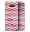 50 Shades of Pink Micro Triangles - Samsung Galaxy S8 Full-Body Skin Kit