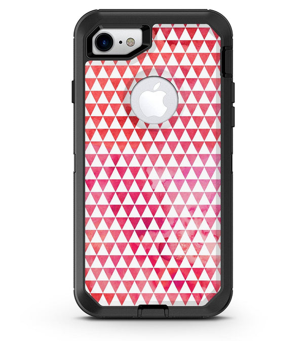 50 Shades of Pink Micro Triangles - iPhone 7 or 8 OtterBox Case & Skin Kits