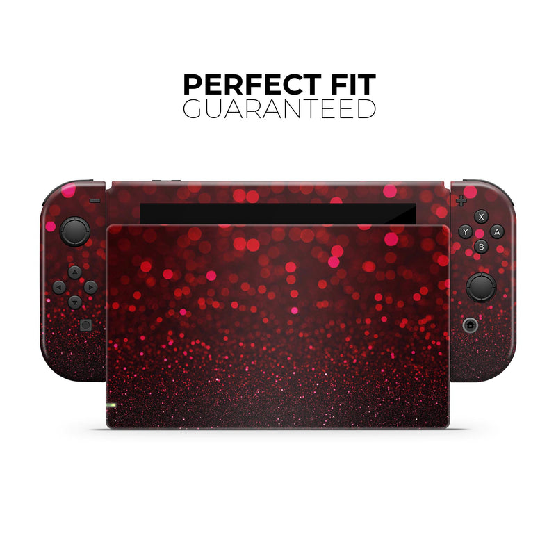 50 Shades of Unfocused Red - Skin Wrap Kit for Nintendo Switch, Switch Lite Console | 3DS XL | 2DS | Pro | Joy-Con Gaming Controller