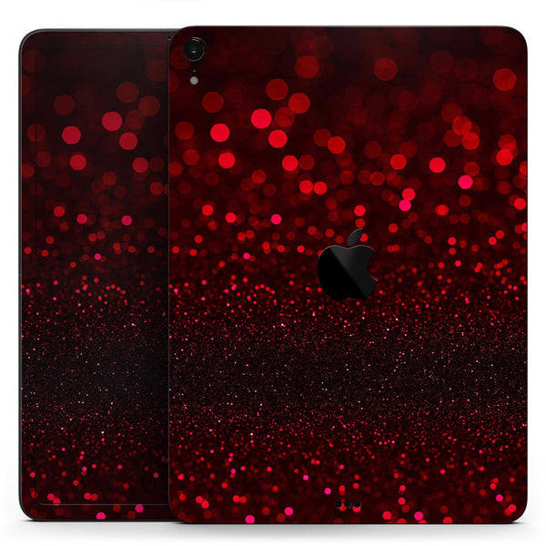 "50 Shades of Unfocused Red - Full Body Skin Decal for the Apple iPad Pro 12.9"", 11"", 10.5"", 9.7"", Air or Mini (All Models Available)"