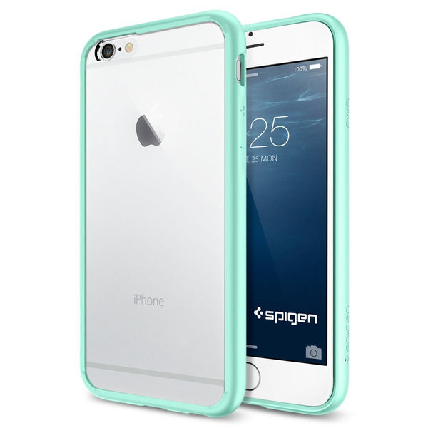 premium selection 19f55 7640b The Mint and Clear Ultra Hybrid Bumper iPhone 6/6s or 6/6s Plus Case