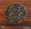 The Tiny Brown Floral Sprockets Skinned Foam-Backed Coaster Set