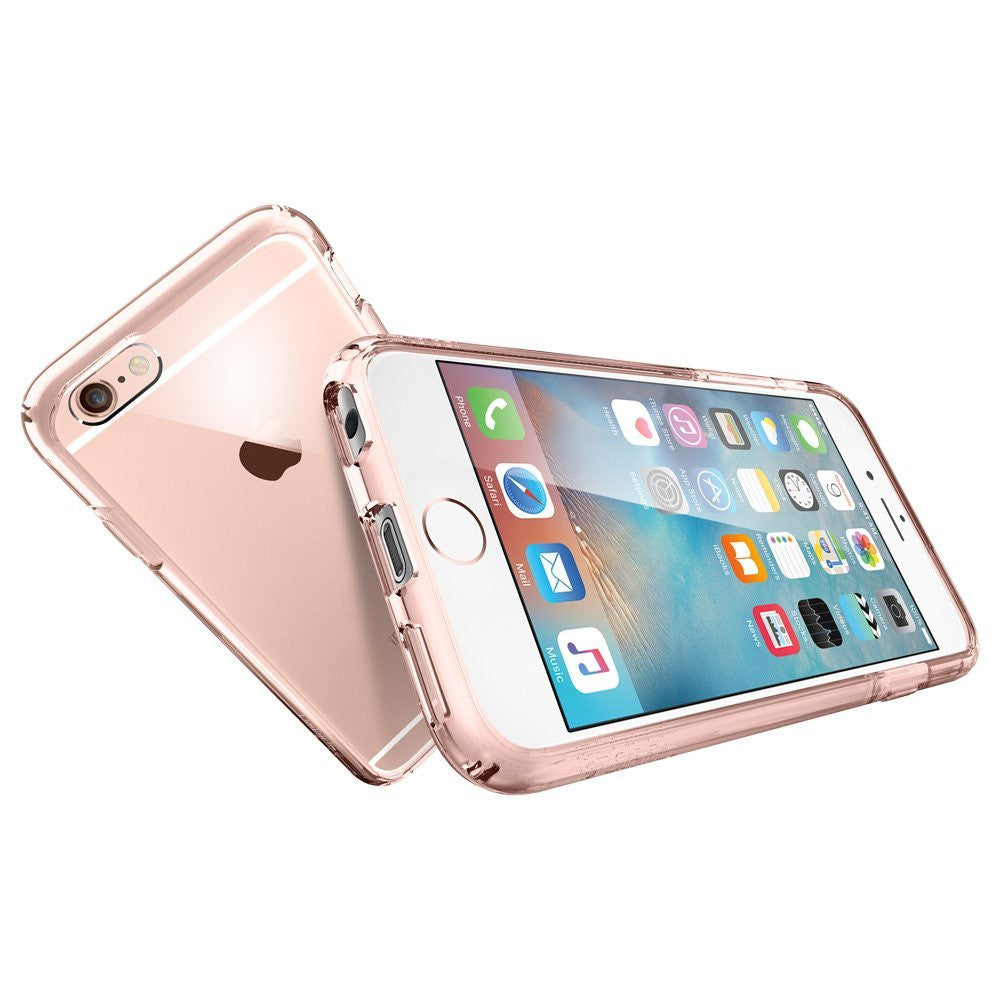 new arrival f614f 1ec40 The Rose Gold and Clear Ultra Hybrid Bumper iPhone 6/6s Case
