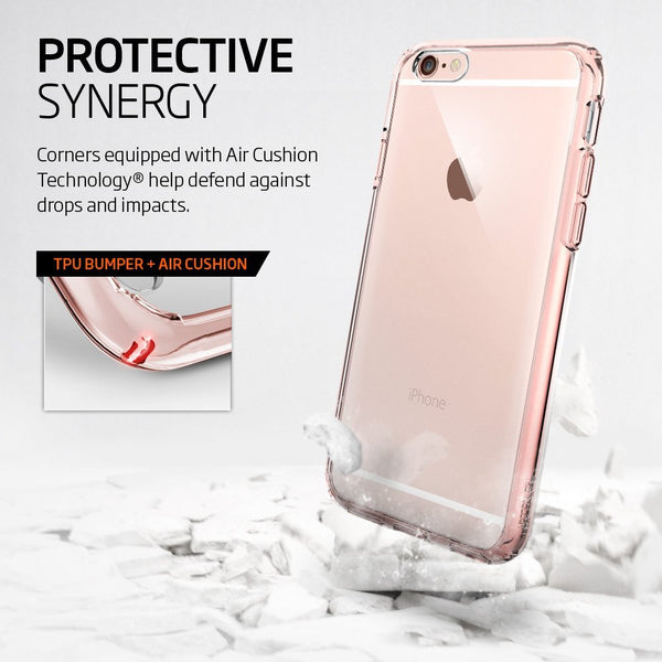 new arrival c122a 1d6de The Rose Gold and Clear Ultra Hybrid Bumper iPhone 6/6s Case