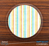 The Vintage Striped n Dotted Skinned Foam-Backed Coaster Set