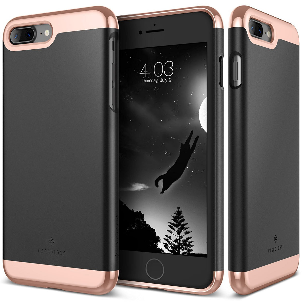 sports shoes cce03 328f2 The Matte Black and Gold Dual Layer Slider / Soft Interior Cover iPhone 7  Plus Case