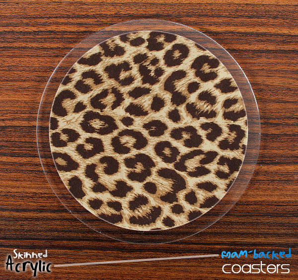 The Simple Cheetah Print Skinned Foam-Backed Coaster Set