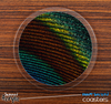The Peacock Feather Detail Skinned Foam-Backed Coaster Set