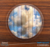 The Cloudy Wood Planks Skinned Foam-Backed Coaster Set