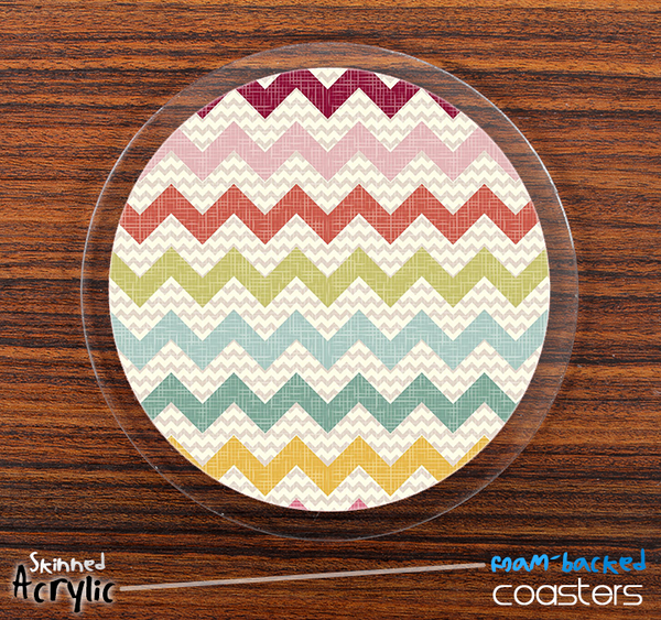The Summers Chevron Skinned Foam-Backed Coaster Set