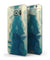 Abstract Aqua and Gold Geometric Shapes - Full Body Skin-Kit for the Samsung Galaxy S7 or S7 Edge