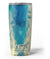 Abstract Aqua and Gold Geometric Shapes Yeti Rambler Skin Kit