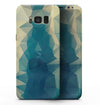 Abstract Aqua and Gold Geometric Shapes - Samsung Galaxy S8 Full-Body Skin Kit
