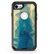 Abstract Aqua and Gold Geometric Shapes - iPhone 7 or 8 OtterBox Case & Skin Kits