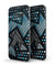 Abstract Black and Blue Overlap - Full Body Skin-Kit for the Samsung Galaxy S7 or S7 Edge