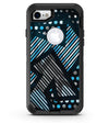 Abstract Black and Blue Overlap - iPhone 7 or 8 OtterBox Case & Skin Kits