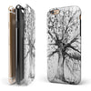 Abstract Black and White WaterColor Vivid Tree iPhone 6/6s or 6/6s Plus 2-Piece Hybrid INK-Fuzed Case