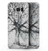 Abstract Black and White WaterColor Vivid Tree - Samsung Galaxy S8 Full-Body Skin Kit