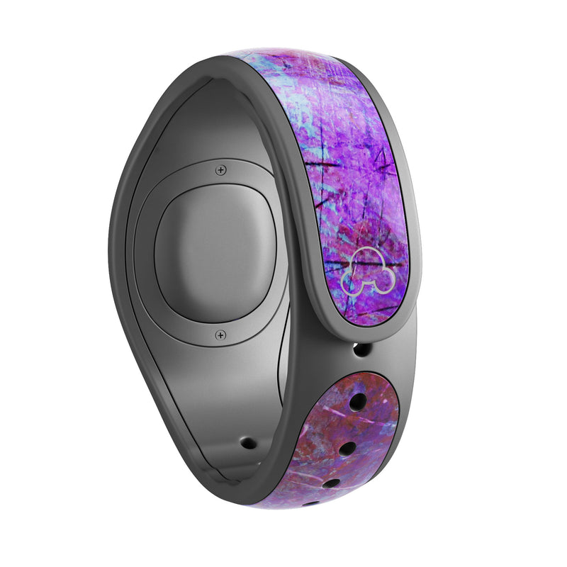 Abstract Blue & Pink Surface - Decal Skin Wrap Kit for the Disney Magic Band