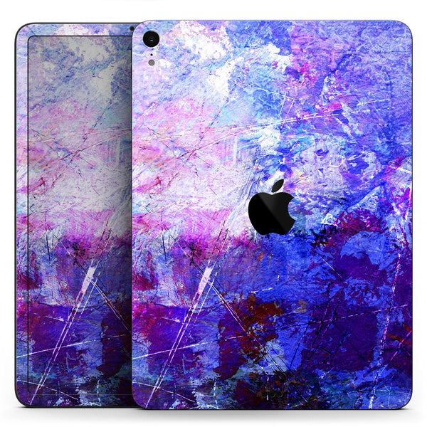 "Abstract Blue & Pink Surface - Full Body Skin Decal for the Apple iPad Pro 12.9"", 11"", 10.5"", 9.7"", Air or Mini (All Models Available)"