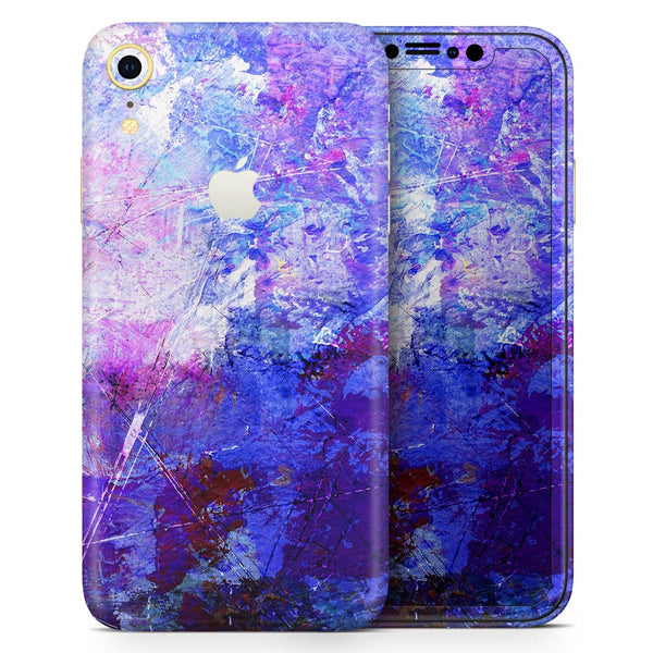 Abstract Blue & Pink Surface - Skin-Kit for the Apple iPhone XR, XS MAX, XS/X, 8/8+, 7/7+, 5/5S/SE (All iPhones Available)