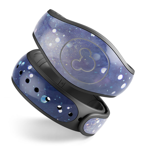 Abstract Blue Grungy Stars - Decal Skin Wrap Kit for the Disney Magic Band