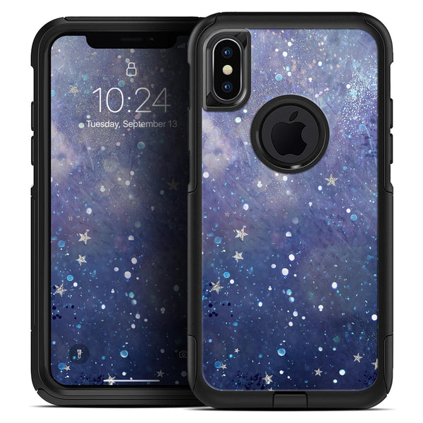 Abstract Blue Grungy Stars - Skin Kit for the iPhone OtterBox Cases