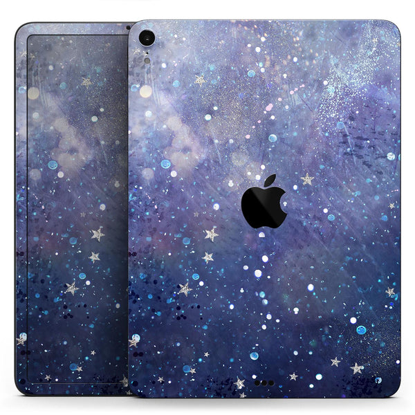 "Abstract Blue Grungy Stars - Full Body Skin Decal for the Apple iPad Pro 12.9"", 11"", 10.5"", 9.7"", Air or Mini (All Models Available)"