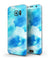Abstract Blue Stroked Watercolour - Full Body Skin-Kit for the Samsung Galaxy S7 or S7 Edge