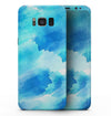 Abstract Blue Stroked Watercolour - Samsung Galaxy S8 Full-Body Skin Kit