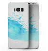 Abstract Blue Watercolor Seagull Swarm - Samsung Galaxy S8 Full-Body Skin Kit