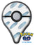 Abstract Blue Watercolor Strokes Pokémon GO Plus Vinyl Protective Decal Skin Kit