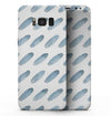 Abstract Blue Watercolor Strokes - Samsung Galaxy S8 Full-Body Skin Kit