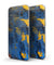 Abstract Blue and Gold Wet Paint - Full Body Skin-Kit for the Samsung Galaxy S7 or S7 Edge