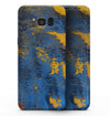 Abstract Blue and Gold Wet Paint - Samsung Galaxy S8 Full-Body Skin Kit