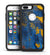 Abstract Blue and Gold Wet Paint - iPhone 7 or 7 Plus Commuter Case Skin Kit