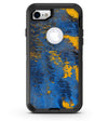 Abstract Blue and Gold Wet Paint - iPhone 7 or 8 OtterBox Case & Skin Kits