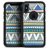 Abstract Blue and Green Triangle Aztec - Skin Kit for the iPhone OtterBox Cases