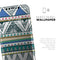 Abstract Blue and Green Triangle Aztec - Skin-Kit for the Apple iPhone XR, XS MAX, XS/X, 8/8+, 7/7+, 5/5S/SE (All iPhones Available)